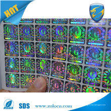 Freie Probe benutzerdefinierte Sicherheit Aufkleber Hologramm Aufkleber