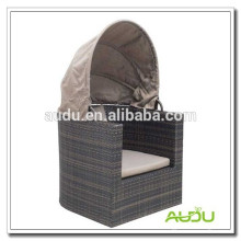 Audu Rattan cama redonda al aire libre en venta
