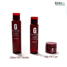 Botella cosmética vacía de la botella de tóner del animal doméstico del color rojo