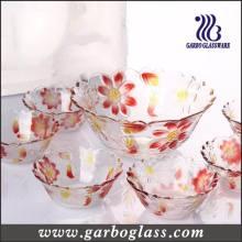Bol en verre décoratif en verre pour Candy / 7PCS Salad Bowl Set / Glassware