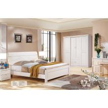 Suite de mobiliário de quarto de madeira sólida moderna