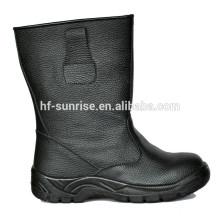 Couro de moda durável alta segurança botas de segurança