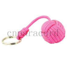 розовый paracord обезьяна кулаки, все размеры стальной шарик