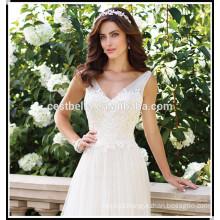 Melhor vestido de noiva chique 2017 Cordão de cordão alto Casaco de noiva perfeito e espartilho barato