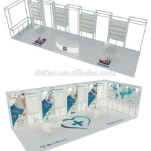 Detian Offer portable trade fair booth with 3d exhibition design for jewelry exhibit advertising