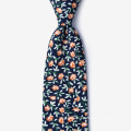 Handmade Mens Printed Slim 100% Cotton Tie