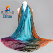 LINGSHANG DXF1 fashion dress newest design scarf silk feel fashion magic cool accessories chiffon scarf