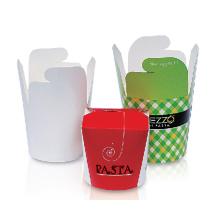 Caixa de macarrão de papel Take Away Food Box recipiente de alimentos