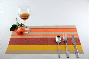 Stripe series of household business dining mat decoration4