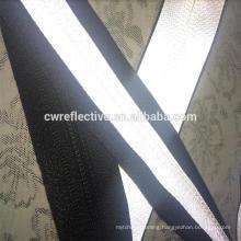 customized nylon waterproof reflective zipper for cloth