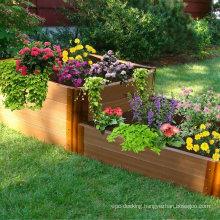 Easily Assembled WPC Garden Box Wooden Plastic Planter Flower Pot for Park