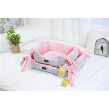 Cama de pelúcia para animais de estimação Cama com almofada para cães de ninho