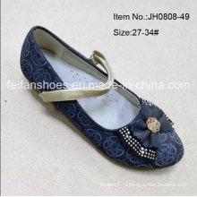 Мода девушка Одноместный обувь принцесса обувь Дети танцевальная обувь (FF0808-49)