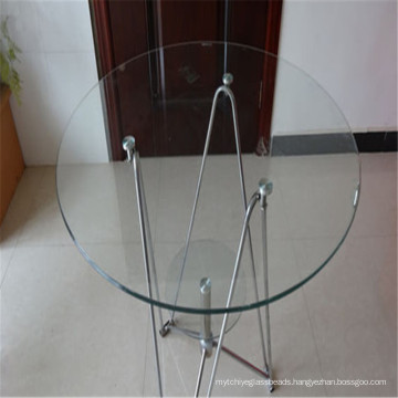 Round Clear Tempered Glass for Dining/Coffee Table