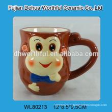 Кубок керамического молочного коктейля с дизайном обезьяны