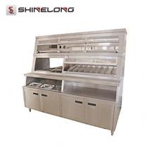 Equipamento de fast food K283 Exibição de alimentos quentes de luxo