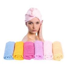 Roupão de toalha de turbina de cabelo para salão de casa