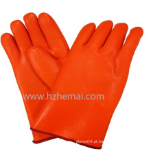 Gauntlet Hi-Vis laranja luvas de PVC dupla mergulhou luva de trabalho industrial