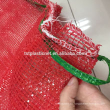Bolsas de producción de malla tubular reutilizable PP para almacenar alimentos, frutas, vegetales