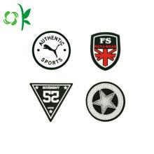 Insignes de bouton de silicone de logo de marque pour des vêtements