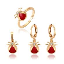 62564 Xuping novo design de ouro crianças jóias de cobre projeto bonito bebê conjunto de três peças