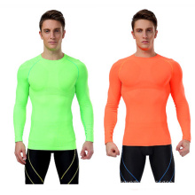 Custom Long Sleeve Seamless Tights Dry Fit Shirt
