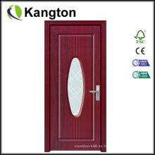 Puerta interior de cristal de calidad superior del PVC (puerta del PVC)