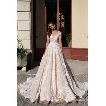 V Шеи С Коротким Рукавом Кружева Бальное Свадебное Платье Свадебные Платья