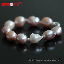 13-15mm Bijoux en perles de perles baroques à l'eau douce naturelle pour bijoux