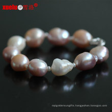 13-15mm Natural Freshwater Big Baroque Pearl Bracelets Jewelry for Women