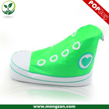 flashy adorable beanbag shoe chair, heart shape printing