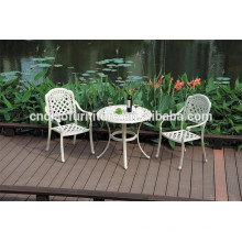 Powder coated aluminum patio table and chairs