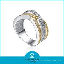 Venta al por mayor personalizada CZ 925 anillo de joyería de plata (SH-R0146)