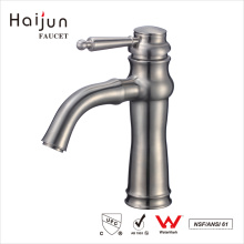 Haijun 2017 Cheap Products Stainless Steel 304 Brushed Bathroom Basin Faucets