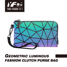 Luminous handbag reflective clutch mobile phone bag