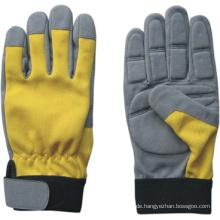 Synthetischer Leder Mechaniker Anti-Vibrations-Handschuh-7207