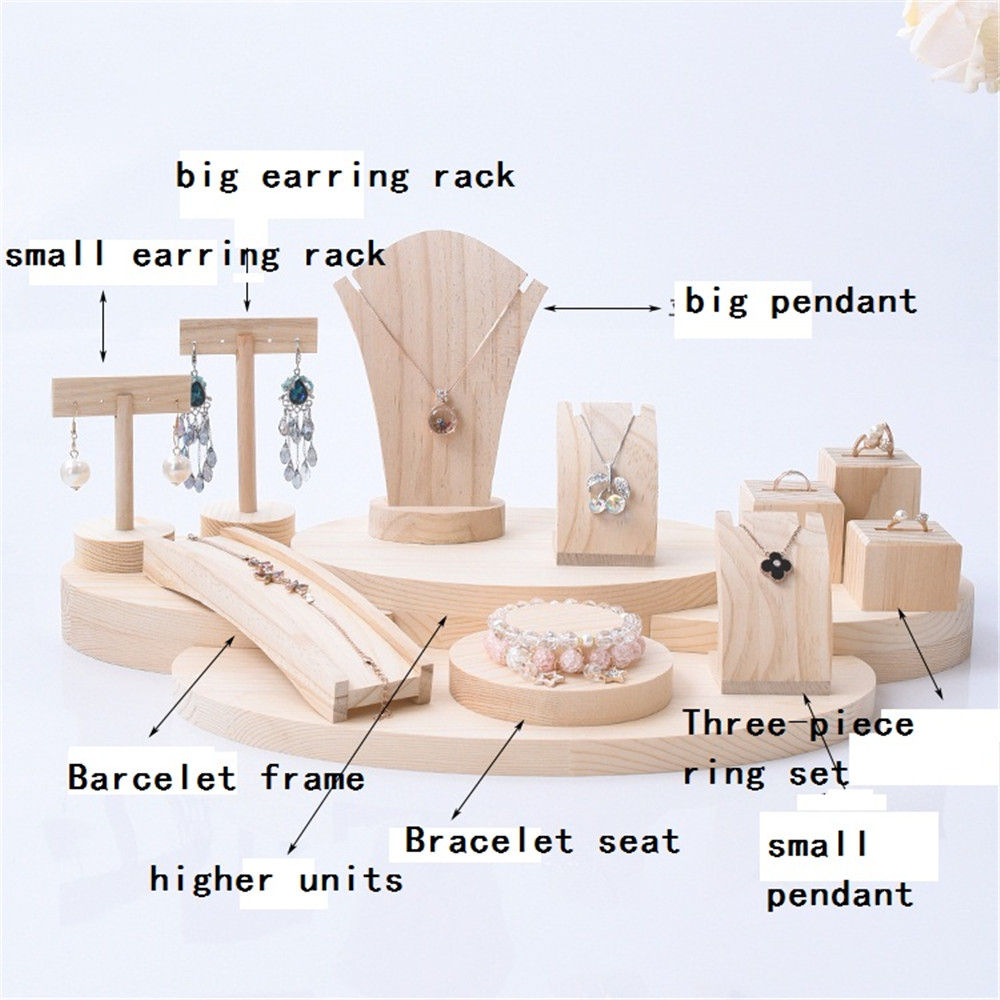 Solid wood jewelry rack