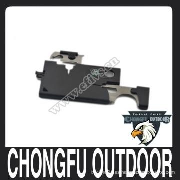 Cuchillo portátil de tarjeta de crédito de acero inoxidable para equipos al aire libre