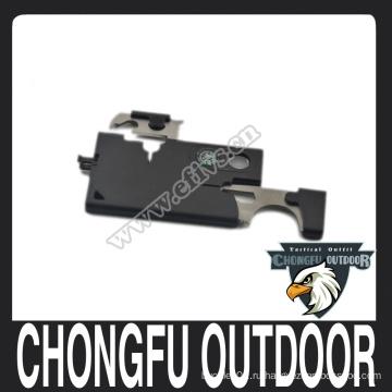 Портативный нож для кредитных карт из нержавеющей стали для наружного оборудования