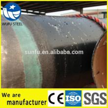 Tuyau en acier Spiral SSAW Q345B pour le transport de fluides gaz et pétrole