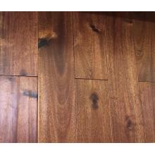 Barato Revestimento de madeira de Acne Engneered do sistema pequeno do clique da folha da noz preta Handscraped da noz