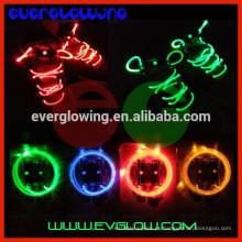 Cadarço de piscamento colorido do diodo emissor de luz