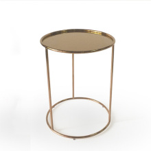 Modern living room stainless steel tray table
