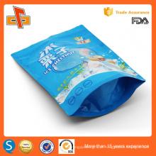 Embalagem de embalagem de plástico ziplockfood plastificado com impressão personalizada de qualidade alimentar com janela