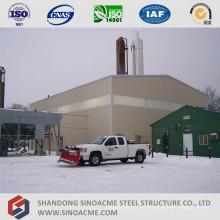 Edificio industrial de estructura metálica de varios pisos