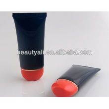 matte finish plastic tube for hand cream with oval flip top cap