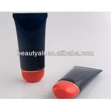 Матовая пластмассовая трубка для крема для рук с овальной крышкой с откидной крышкой