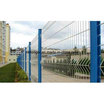 Enduit de PVC de haute qualité fil de fer clôture de maille