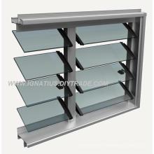 Bathroom Aluminium Frame Laminted Glass Louvre Windows