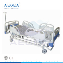 AG-BM109 con sistema de frenado controlado central eléctrico ajustable en 3 funciones camas ajustables médicas